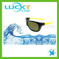 Black and yellow two tone sports sunglasses men sport sunglasses with optical insert lens