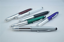 Metal LED Light Ballpoint Pen With Stylus Touch For Phone Tablets