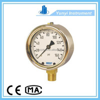 213.40 type pressure gauge with forged brass case and bourdon tube