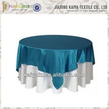 Party decoration cheap royal blue underlay table cloth