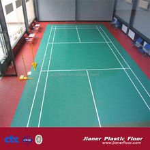 pvc indoor sports flooring for badminton use