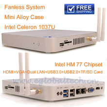 Mini PC x86 Fanless Mini PC 12v C1037U Dual LAN HOMI 1080P, support 3D games and VLC HD streams