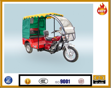 Rear cabin with canvas best passenger tricycle sell to all the world