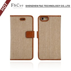 Factory price pu leather cell phone cover case for iphone 6s