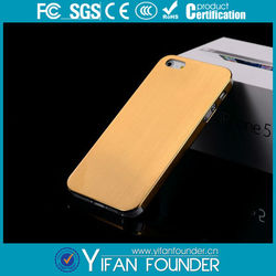 Gold High Lighted Face Effect Brushed Aluminum Metal Case for iPhone 5 5G