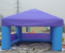 Factory direct sale blue color inflatable cube tent for promotional activities