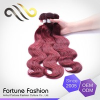 Nice Quality Can Be Colored Remy Short Red 99J Hair Weave With Highlights Color