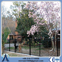china post 25mm*38mm punched rails elegant look residential durability Galvanized Surface treatment fence panel delivered
