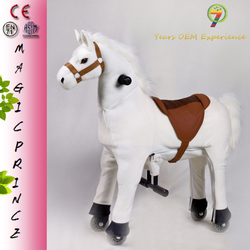 (EN71&ASTM&CE)~(Pass!!)~Dalian China NHP-15 Stuffed & Plush Toy walking animal white horse ride on toys for kids