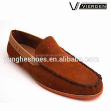 Unique design tan color flat sole fashion casual shoes FY2305001