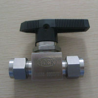 3000psi OD1/4'' metal seat ball valve with black handle supplier