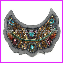 Wholesale Tribal Handmade Beaded Rhinestone Embroidery Neckline Collar WTA87