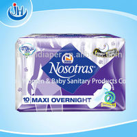 hot selling extra care sanitary napkin named Nosotras with wings and organic cotton
