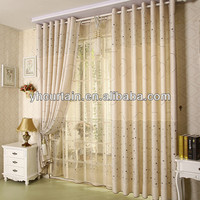 double layers ready made curtain eyelet manual curtains
