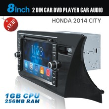 2 din car dvd player car audio for Honda City with bluetooth GPS Ipod video TV