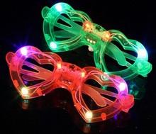 2015 plastic LED flashing glasses fluorescent heart shapeparty glasses