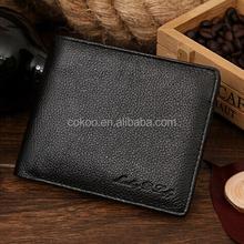 Men Leather Short Wallet, High Quality Men genuine Leather Wallet 2 colors
