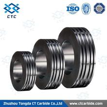 New design 140*90*20mm tungsten carbide rolls for processing plain and ribbed steel wires