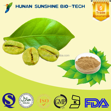health food Liver protecting Green Coffee Bean P.E Chlorogenic Acid 50%
