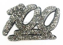 hat accessories fashion iron on resin rhinestone heat transfer decoration