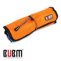 BUBM Orange Nylon Folding Travel Cable Storage Bag