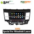 8 pulgadas de coches reproductor de dvd con gps para mitsubishi lancer 2006-2012 navegación, táctil- pantalla, bluetooth, ipod