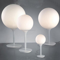 Mordern simple white glass ball Italy design hotel lamp reading beaver lamp by GALILEO