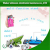 new products silicone smart wallet mobile card holder sticks to phone back for phones mobile phone case silicone wallet