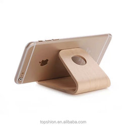 Hot selling for iPhone 6 stand holder wooden material, 100% handmade and natural