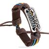 vintage english letter leather bracelet, leather bracelet for man(SWTJU599)