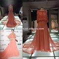 Hot vendre elie saab couleur rose veste robes de soirée/amovible. veste long train robes de soirée