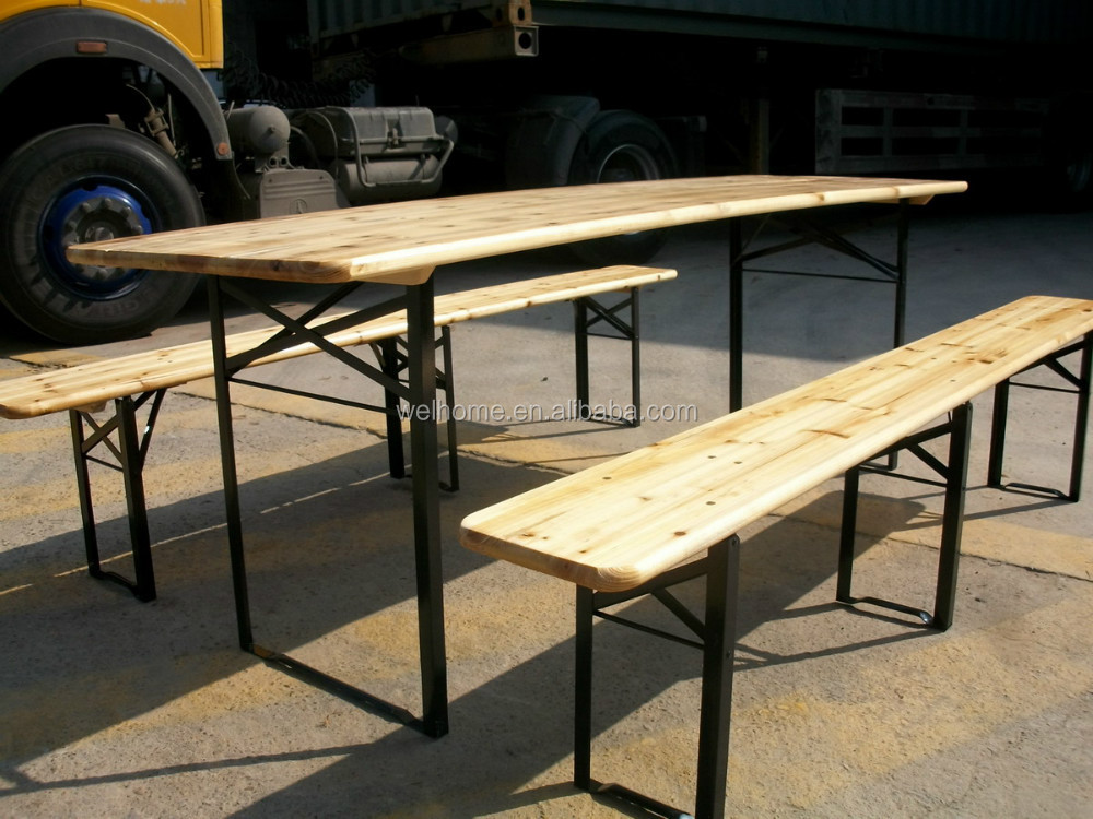 wooden folding beer table set beer table and bench wood