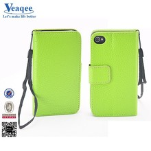 Veaqee blank wallet leather cell phone case for iphone5