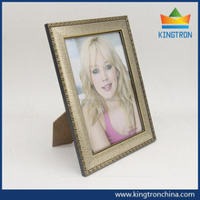 PS moulding plastic photo frames light gold color with classical edge with best price