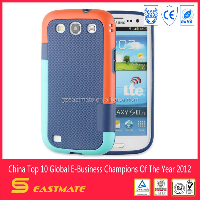 Korea multi-color tpu pc case for samsung galaxy s3 mobile case, Waterproof Case For iphone/for samsung etc mobile phone