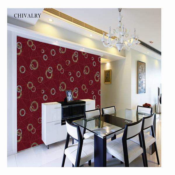 Modern design pvc wallpaper cheap wallpaper chivalry for Cheap contemporary wallpaper
