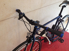 2015 Latest Off Road blue Bicycle 700c Electric Bike
