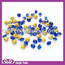 Manufacturers sell wholesale pointed at the bottom of lake blue rhinestone DIY glass chaton