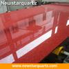 Newstar 300x1400 artificial quartz crystal red quartz slabs