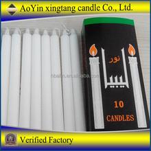 Lighting white candle/velas for Africa market/10g-100g