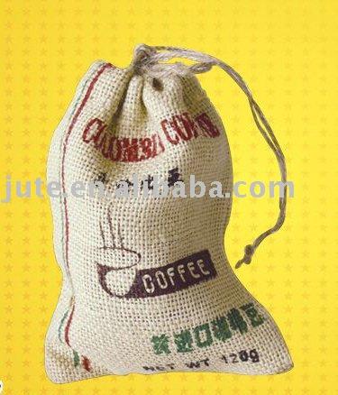 Sacchetto di iuta(100% materiale juta, sacco di iuta piccolo)
