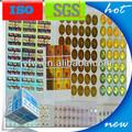4 colores de impresión adhesiva impermeable etiquetas para el vidrio