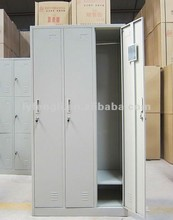 Children Laminate Stainless Steel 3 Doors Wardrobe/Closet/Almirah for Bedroom