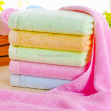 Excellent Quality Antibacterial health care solid color bamboo towels