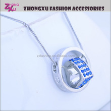 custom fashion new silver plated diamond heart shaped girl festival accessory