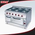 Envío de pie 6 quemadores cocina de Gas horno / cocina de Gas con horno / Gas gama horno