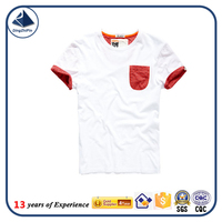 Custom logo organic cotton t-shirt with pocket