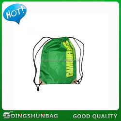 Cheap classical small polyester drawstring bag new type