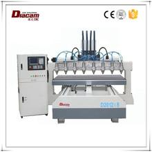 China Jiangsu Diacam WH-2012 * 8 corte forte resistência cnc telescópica máquina de cobre máquina router