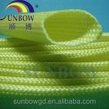 Acrylics Coated Fiberglass Sleeving For insulation , acrylic Coated braided glassfiber sleeving